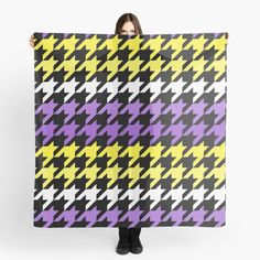 Hounds Tooth, Canvas Prints, Art Prints, Chiffon Tops, Classic T Shirts, Printed, Abstract, Purple, Awesome
