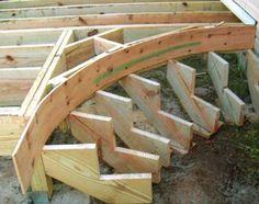 Construction of an outdoor deck staircase