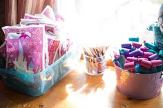 Frozen Themed Birthday Party Goodie Bags