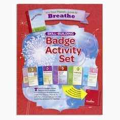 Breathe Skill Building Set includes the earning requirements for the following earned badges: Book Artist, Woodworker, Special Agent, Trailblazing, Babysitter