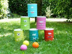 I love chamboule-tout { recycle tes boîtes de lait 2ème âge }