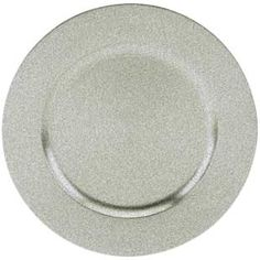 glittery #sparkly silver charger #plate! $1.95, TRS-6695