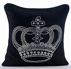 Designer Black Pillow Cases, Crystals Emperor Crown Pillo... https://www.amazon.com/dp/B01645ZZDQ/ref=cm_sw_r_pi_dp_x_0UHbybG7BQGD5