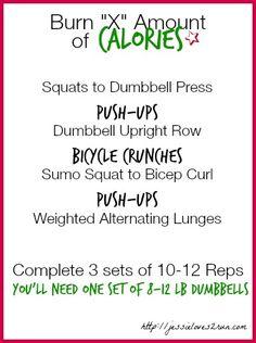 Burn X Amount of Calories Workout - Jessie Loves To Run jessieloves2run.com/2014/07/01/burn-x-amount-calories/