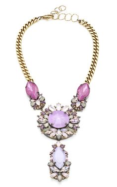 Erickson Beamon Pretty in Punk Embellished Bib Necklace at Moda Operandi