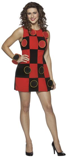 Adult Checkers Dress Costume - Game Costumes
