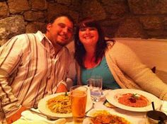 Celine Navarro dinning at Kouros Hotel & Suites restaurant in Mykonos island