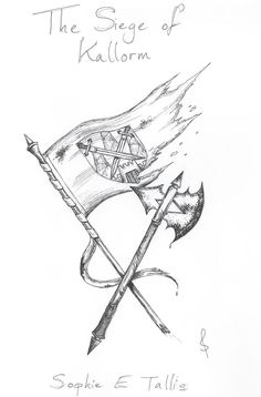 A rough sketch for a White Mountain short story, 'The Siege of Kallorm' by Sophie E Tallis.