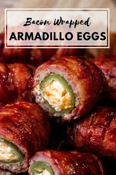 These Bacon Wrapped Armadillo eggs are slow smoked to perfection. Jalapeno poppers, wrapped in pork sausage, then wrapped in bacon, these are one tailgating treat or appetizer that will impress the crew.