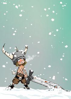 """""""Little Viking"""" by Dank #art #illustration #viking"""