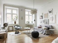 Déco scandinave, parquet clair, couleurs cendrées Pinterest-decor8blog