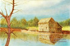 "The Mill. Oil. First place in ""Mill as Muse Contest"" of Yates Mill"