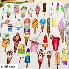 inspiração para a página dos sorvetes! / inspirational post for the ice-cream page! - Repost @htner_  #colorindosegredosdeparis #segredosdeparis #antiestresse #colorindo #ParisSecret #SecretParis