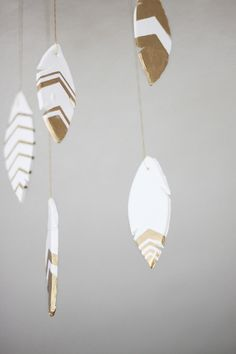 Gilded Clay Feather DIY