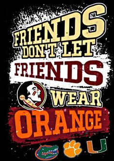 I never wear Orange. Florida State Football, Florida State University, Florida State Seminoles, Seminole Football, Football Baby, Football Season, Baseball, College Football Memes, Collage Football