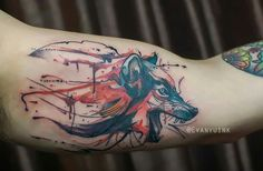 Tattoo lobo colors