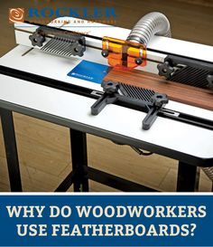 Learn why you should use a featherboard when woodworking. Featherboards can be used with  a router table, table saw or any other stationary power tool.