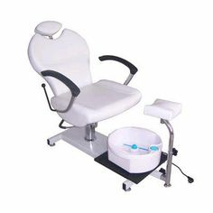 This chair is mobile and can be used w disposable liners for foot wash...comfortable looking, yet great for a small space....and a rest for the leg....winner!