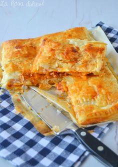 Empanada de hojaldre y boloñesa sin lactosa