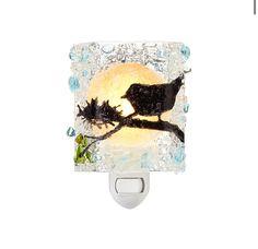 Recycled Glass Birds Nightlight