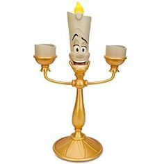 Amazon.com: Disney Beauty and the Beast Lumiere Candelabra: Furniture & Decor