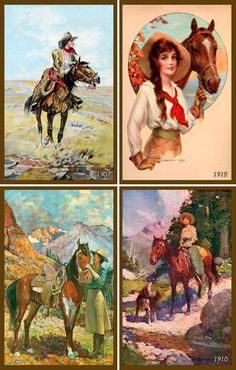 Cowgirls and Horses http://www.pinterest.com/source/oldeamericaantiques.com/