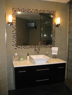 Welcome to Artistic Tile - TILE FRAMED MIRROR