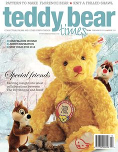 Issue 233 of Teddy Bear Times is out now (Feb/Mar 2018). Buy the print or digital version at http://www.teddybeartimes.com/. Featuring marvellous mohair, artist inspiration and new ideas for 2018. #TBT #teddybear #magazine