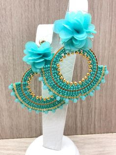 Beaded Tassel Earrings, Pink Earrings, Seed Bead Earrings, Turquoise Earrings, Flower Earrings, Beaded Jewelry, Dangle Earrings, Crochet Earrings, Swarovski Crystal Beads