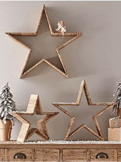 Bring a natural element to a Scandi festive interior with Cox and Cox's set of three rattan stars in a small, medium and large. Bring a natural element to a Scandi festive interior with Cox and Cox's set of three rattan stars in a small, medium and large. Diy Christmas Star, Scandi Christmas, Outdoor Christmas, Handmade Christmas, Christmas 2019, Christmas Christmas, Diy Snowman Decorations, Christmas Decorations, Christmas Ornaments