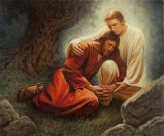 An Angel Strengthened Him by Del Parson