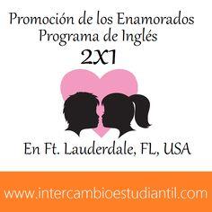 #Promoción #Inglés #2x1 #Florida #FtLauderdale #USA #America #Love #DiadelosEnamorados #14febrero   #GRAcademic    www.intercambioestudiantil.com - info@intercambioestudiantil.com