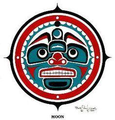 Pacific Northwest Indian Art Owl | Native American Art | northwest fine art | Totem Art | Moon