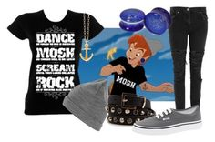 """""""Punk Peter Pan"""" by jess-d90 ❤ liked on Polyvore featuring Disney, Christopher Kane, Liquid Blue, MANGO, Vans, women's clothing, women's fashion, women, female and woman"""
