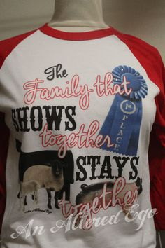 The Family That Shows Together Raglan