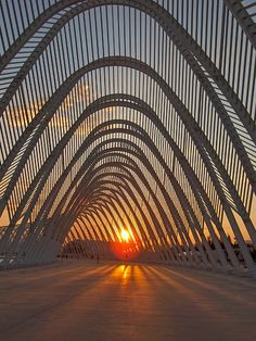 The Olympic Agora, designed by Santiago Calatrava, in Athens. Photo via Flickr User CC John & Mel Kots.
