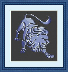 Check out this item in my Etsy shop https://www.etsy.com/listing/563137087/leo-cross-stitch-pattern-leo-zodiac