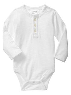Henley placket bodysuit Product Image