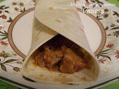 Fajitas mexicanas de carne de cerdo