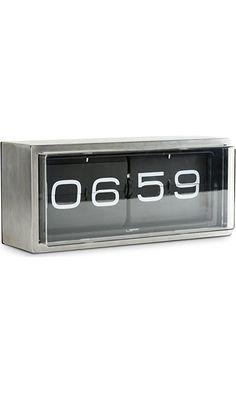 Leff Amsterdam wall/desk clock brick stainless steel 24h black $349