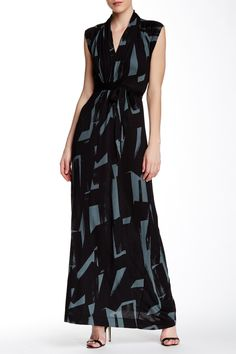 French Connection   Brushstroke Print Jersey Maxi Dress   HauteLook