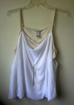 629c4d8b6e7 22W Lane Bryant Layered Cami New without tags. It has a sparkly gold cami on