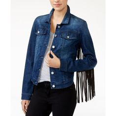 William Rast Sussex Denim Jacket ($65) ❤ liked on Polyvore featuring outerwear, jackets, painter wash, william rast, blue jackets, denim jacket, blue denim jacket and jean jacket