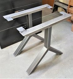 Items similar to Set of Two X Metal Table Legs, Iron Table Legs, Steel Table Legs, Modern Table Legs, Industrial Metal Table Legs on Etsy Industrial Metal Table Legs, Modern Table Legs, Steel Table Legs, Industrial Furniture, Dining Table Legs, Wooden Dining Tables, Modern Dining Table, Rustic Table, Trestle Table