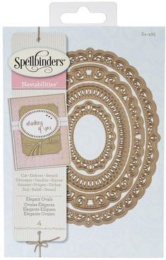 Spellbinders Nestabilities Die - Elegant Ovals. Lacey and intricately cut designs decorate the edges of these wonderful ovals. This set of four Nestabilities De