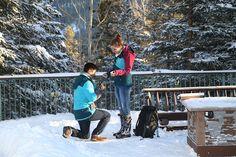 Alpine Peak Photography: Banff Proposal Photographer - She Said Yes!