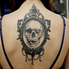 Vintage Skull Tattoo