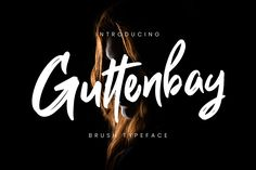Guttenbay is ultrasmooth brush script font with bold and natural looking style with ligature supporting to make your projects look truly authentic and realistic.Guttenbay is perfect for branding projects, logo, wedding designs, social media posts, adver… Typeface Font, Sans Serif Fonts, Handwritten Fonts, Script Fonts, New Fonts, Best Free Fonts, Brush Script, Premium Fonts, Scripts