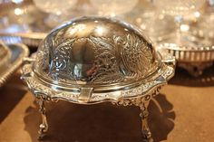 vintage silver dome perfect for a small appetizer