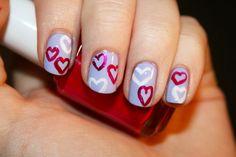 Valentine Holiday Nail Art Designs